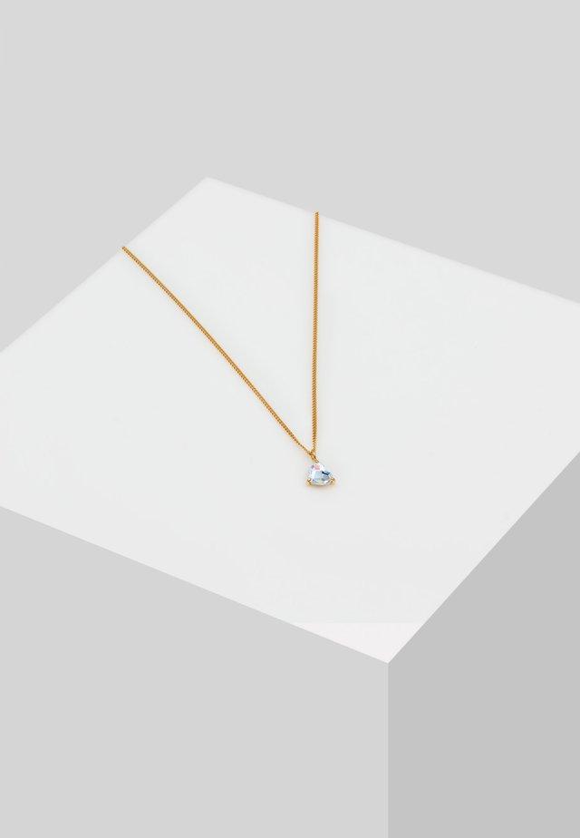 HERZ SWAROVSKI® KRISTALLE LIEBE HEART  - Halsband - gold
