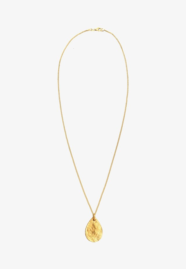 PLÄTTCHEN STRUKTURIERTE OBERFLÄCHE 925 SILBER - Necklace - gold