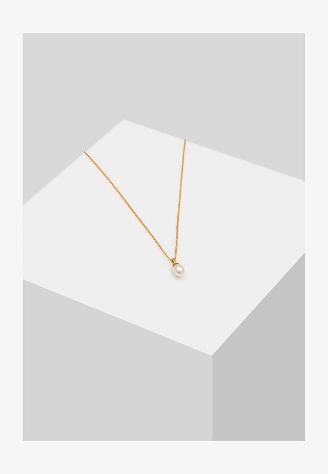 PERLEN ANHÄNGER - Necklace - gold