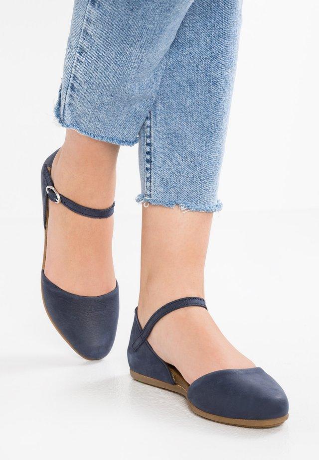 STELLA - Ankle strap ballet pumps - ocean
