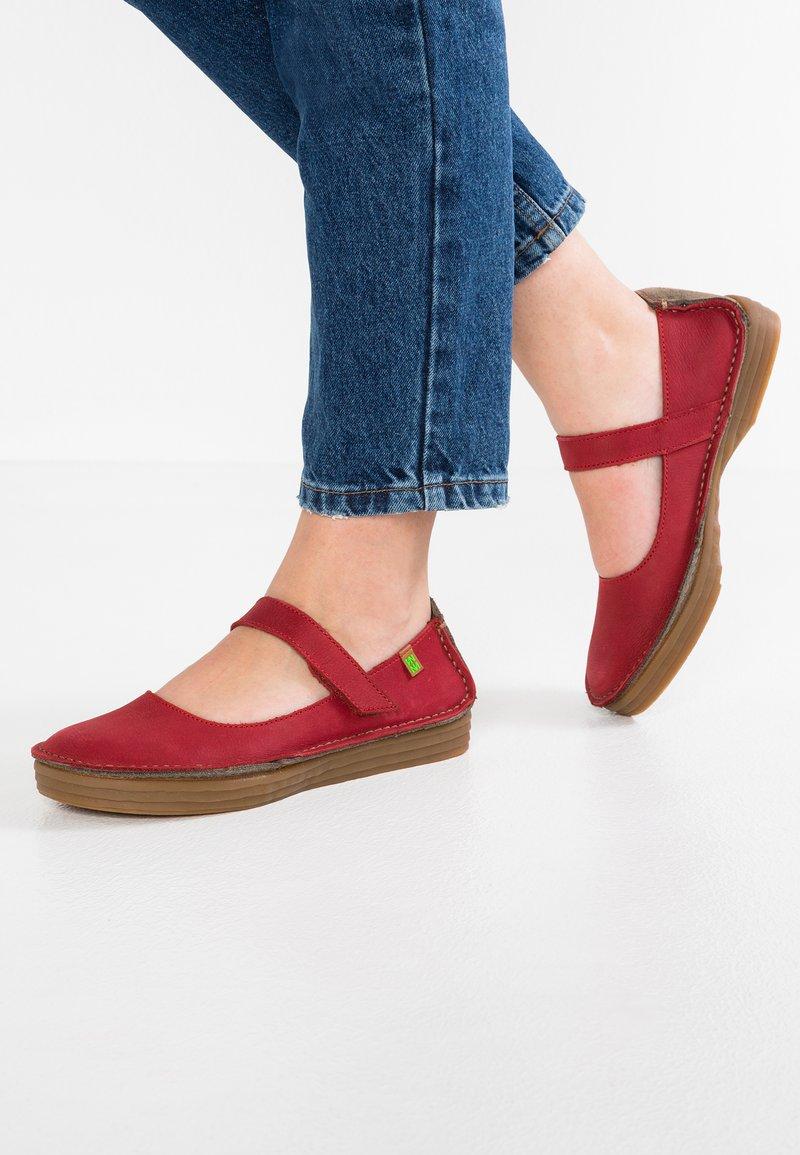 El Naturalista - RICEFIELD - Ankle strap ballet pumps - tibet mole