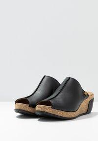 El Naturalista - LEAVES VEGAN - Heeled mules - black - 4