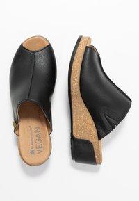 El Naturalista - LEAVES VEGAN - Heeled mules - black - 3