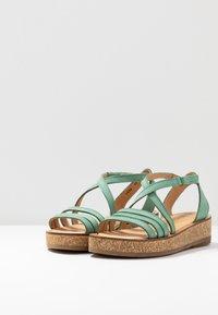 El Naturalista - TÜLBEND - Platform sandals - mint - 4