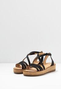 El Naturalista - TÜLBEND - Platform sandals - black - 4