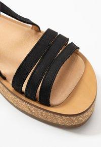 El Naturalista - TÜLBEND - Platform sandals - black - 2
