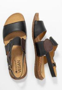 El Naturalista - WAKATAUA VEGAN - Sandals - black rugged - 3
