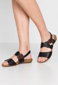 El Naturalista - WAKATAUA VEGAN - Sandals - black rugged - 0