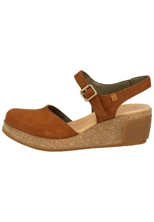 EL NATURALISTA SANDALEN - Wedge sandals - wood-nectar
