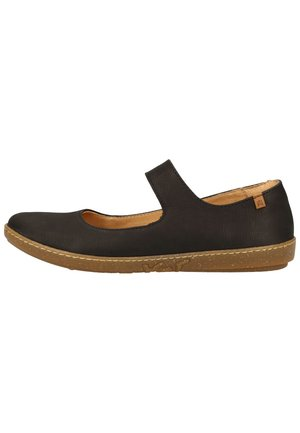 EL NATURALISTA BALLERINAS - Ankle strap ballet pumps - black