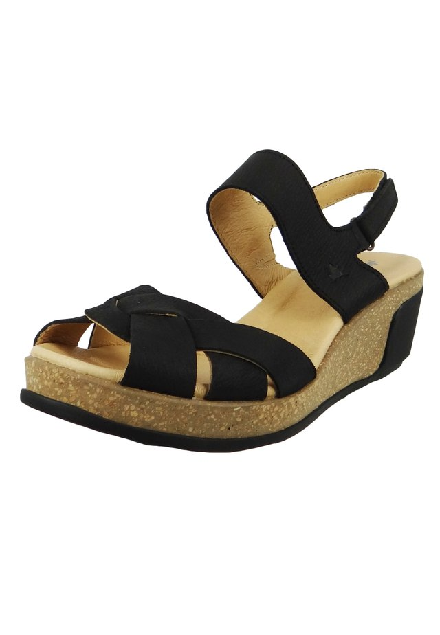 N5008 LEAVES  - Platform sandals - black