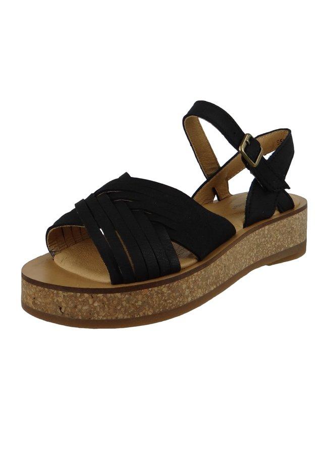 N5590 TÜLBEND  - Platform sandals - black