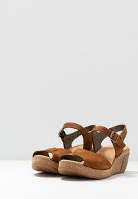 El Naturalista - LEAVES - Platform sandals - wood - 4