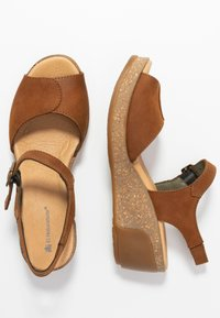 El Naturalista - LEAVES - Platform sandals - wood - 3