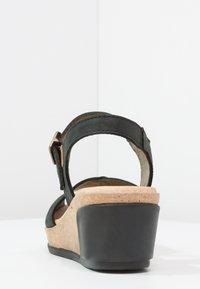 El Naturalista - LEAVES - Platform sandals - black - 4