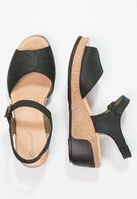 El Naturalista - LEAVES - Platform sandals - black - 2