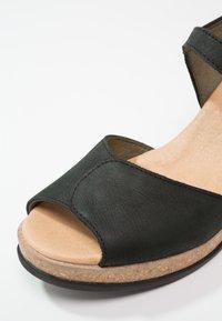El Naturalista - LEAVES - Platform sandals - black - 6