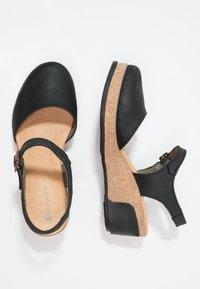 El Naturalista - LEAVES - Platform heels - black - 2