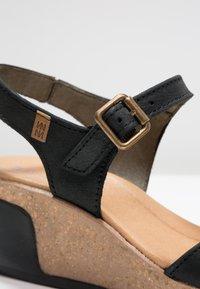 El Naturalista - LEAVES - Platform heels - black - 6