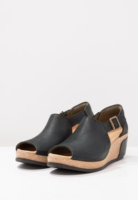 El Naturalista - LEAVES - Platform sandals - black - 3