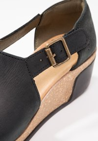 El Naturalista - LEAVES - Platform sandals - black - 6