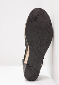 El Naturalista - LEAVES - Platform sandals - black - 5