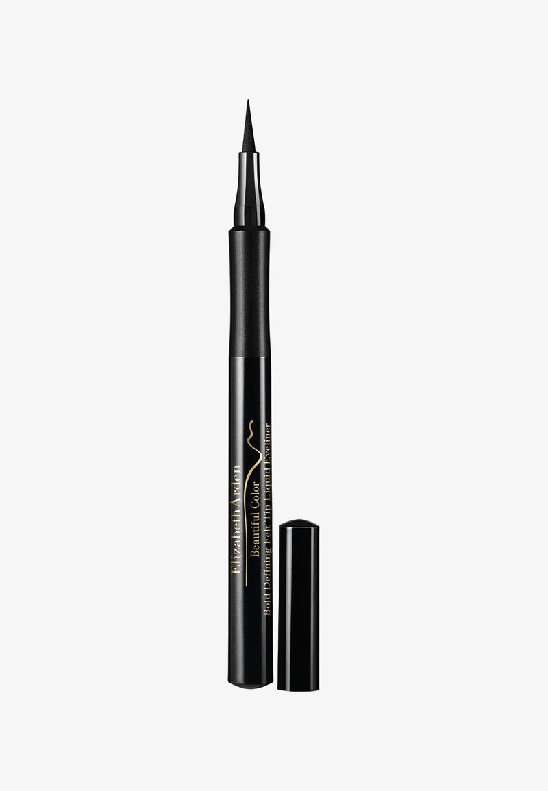 Elizabeth Arden - BEAUTIFUL COLOR BOLD DEFINING FELT TIP LIQUID EYELINER SERIOUSLY - Eyeliner - seriously black ww