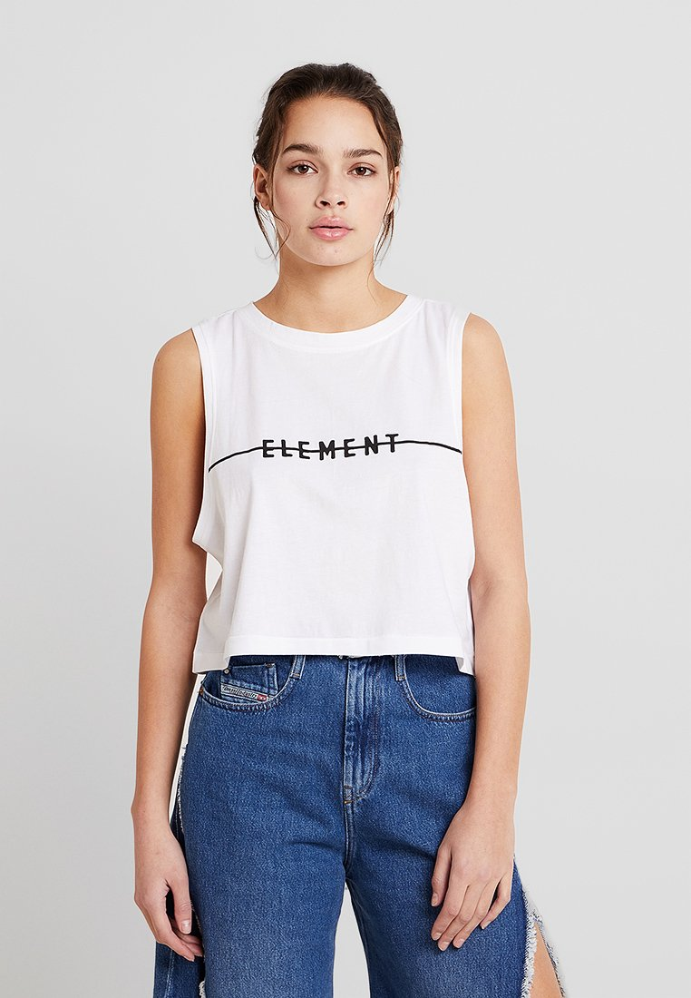 Element - LINE LOGO CROP TANK - Top - white