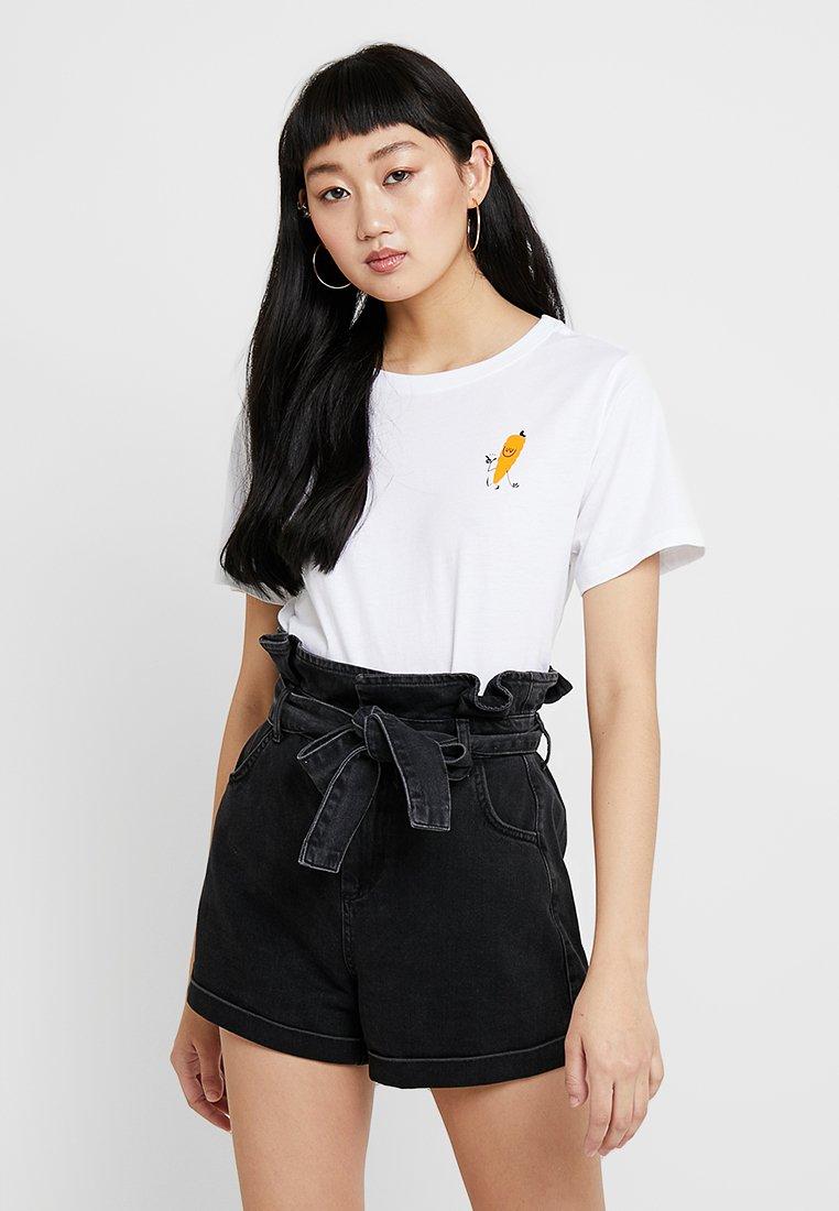 Element - YAWYD CROP - Print T-shirt - white