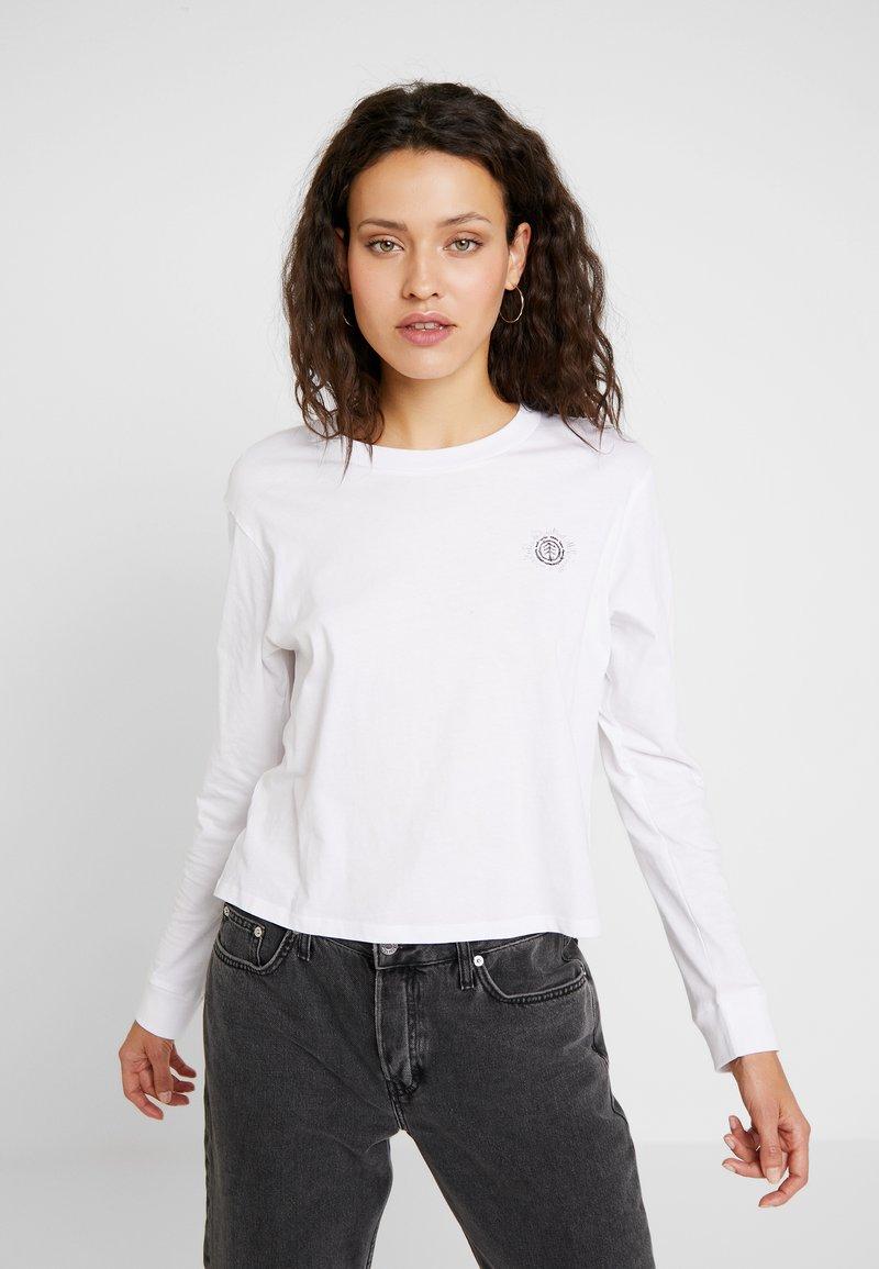 Element - TIMBER CROP - Langarmshirt - white