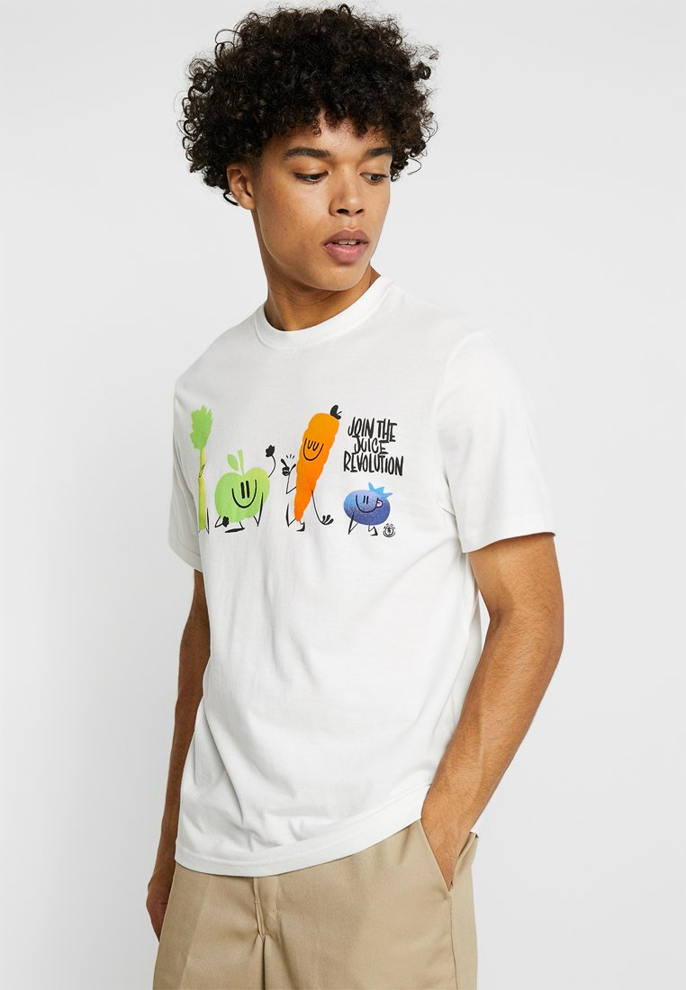 Element - SHORT SLEEVE - Print T-shirt - off white