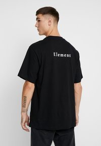 Element - TEE - Printtipaita - flint black - 2