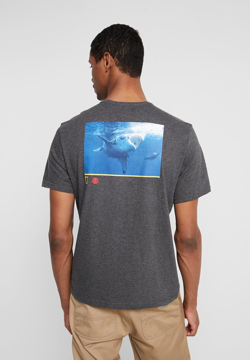 Element - CURRENT - Printtipaita - charcoal heather