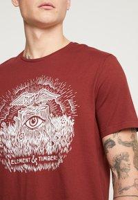 Element - TOO LATE STUMP - T-Shirt print - port - 5
