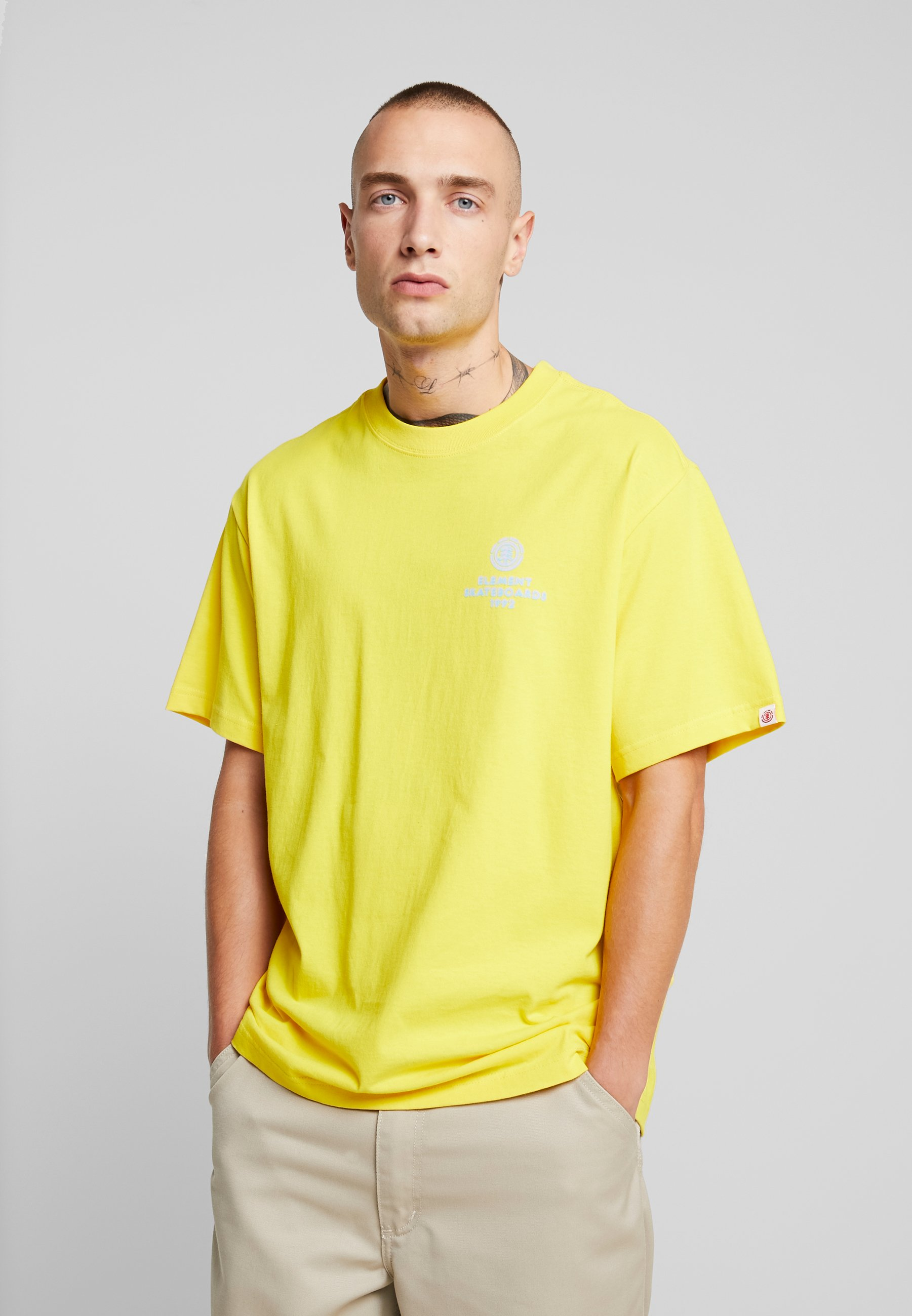 shirt Yellow Element ChromeT Imprimé Bright eHEI29YbWD