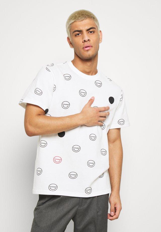 CALVIN - T-shirt med print - white