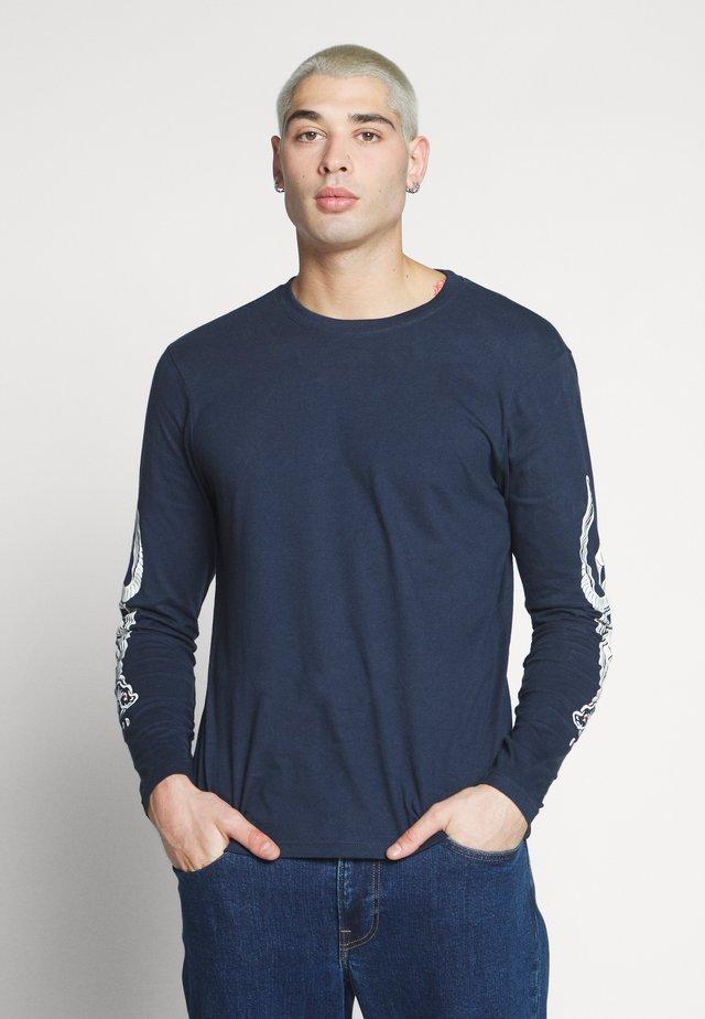 SNAKES - Long sleeved top - indigo