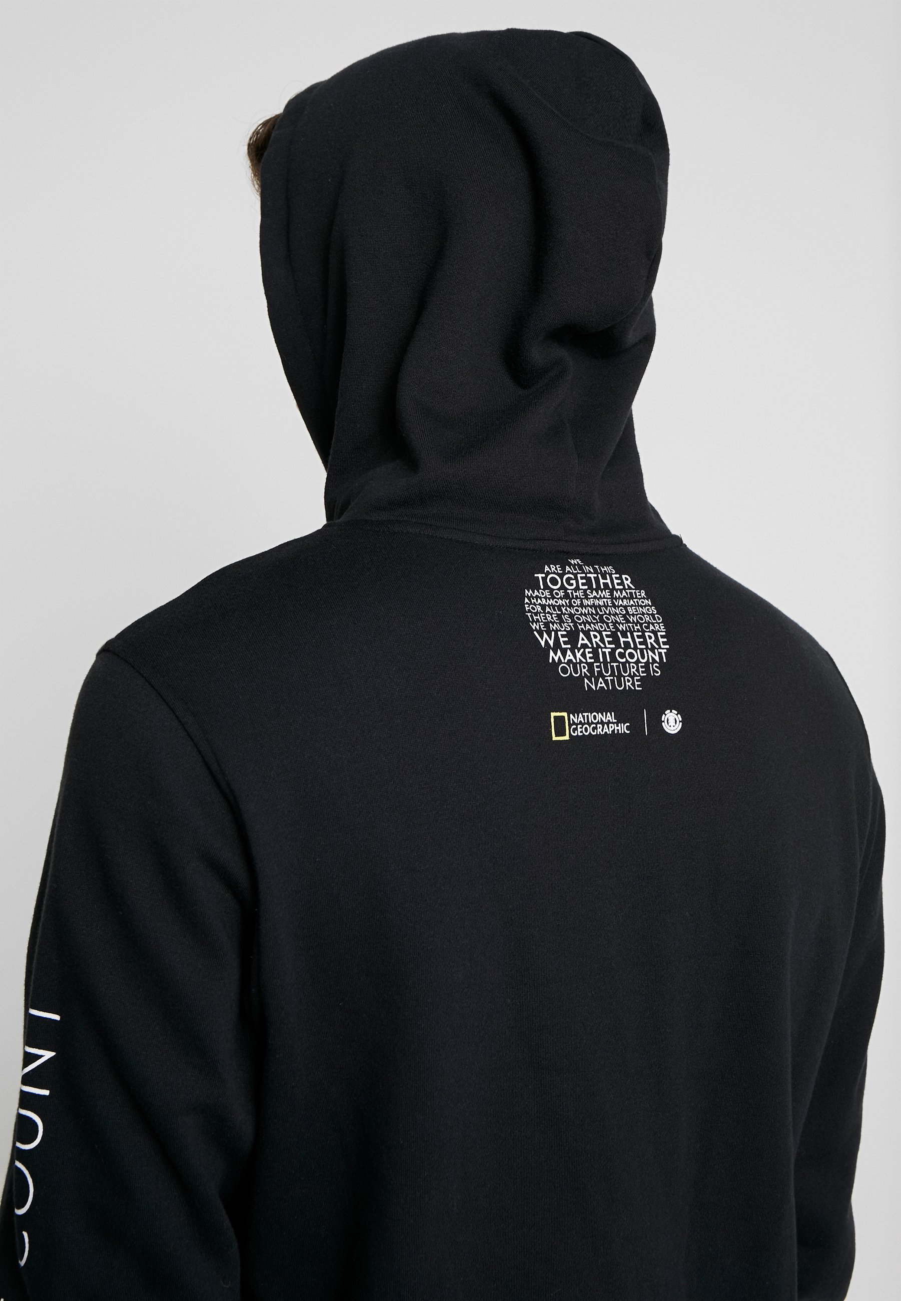 Element NATIONAL GEOGRAPHIC SUN FLEECE - Bluza z kapturem - flint black