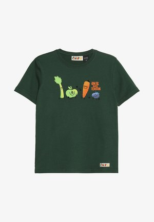 YOU ARE WHAT YOU DRINK FRUITSQUAD  - T-shirt imprimé - dark green