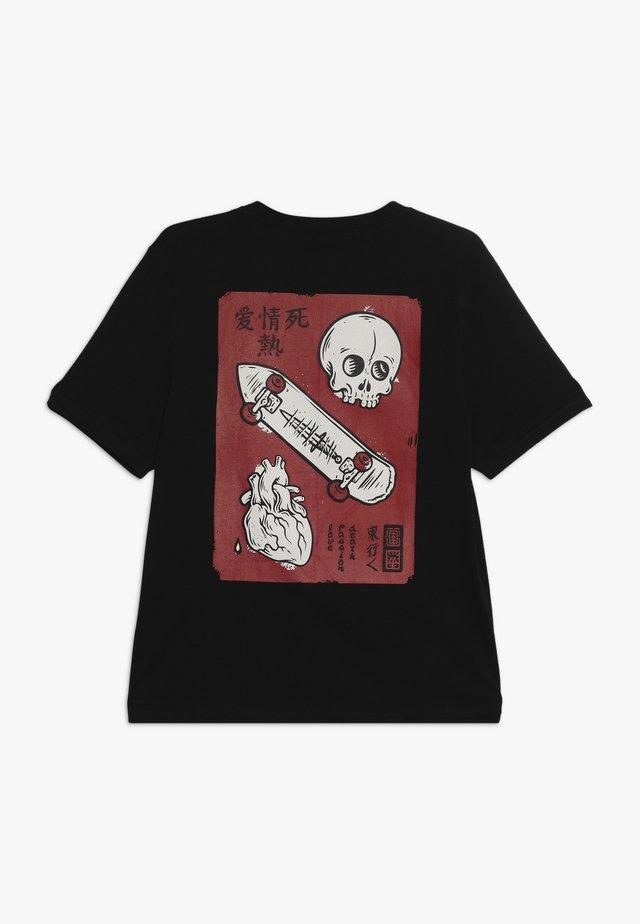 LOVE PASSION DEATH  - Print T-shirt - flint black