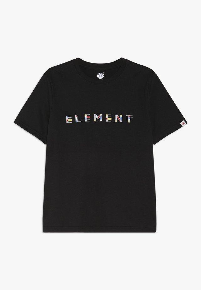 METZ BOY - T-shirts med print - flint black
