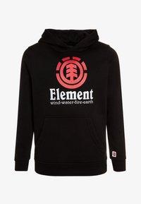 Element - VERTICAL HOOD BOY - Hættetrøjer - flint black - 0
