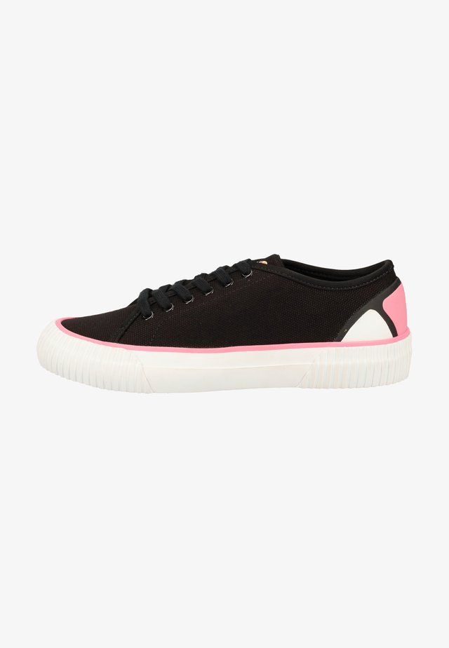 Sneakers laag - black/white/fluro pnk