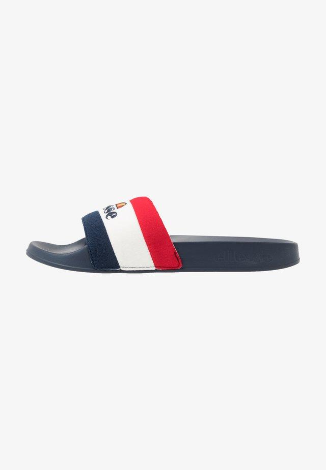 BORGARO - Sandaler - dark blue/white/red
