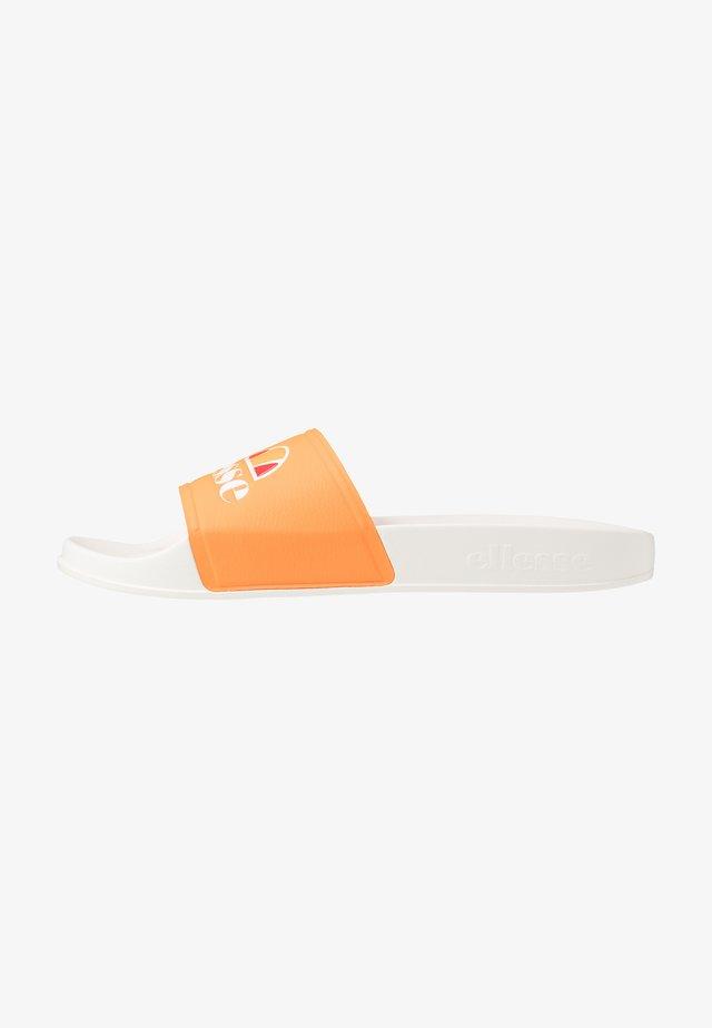 FILIPPO - Pantolette flach - white/orange