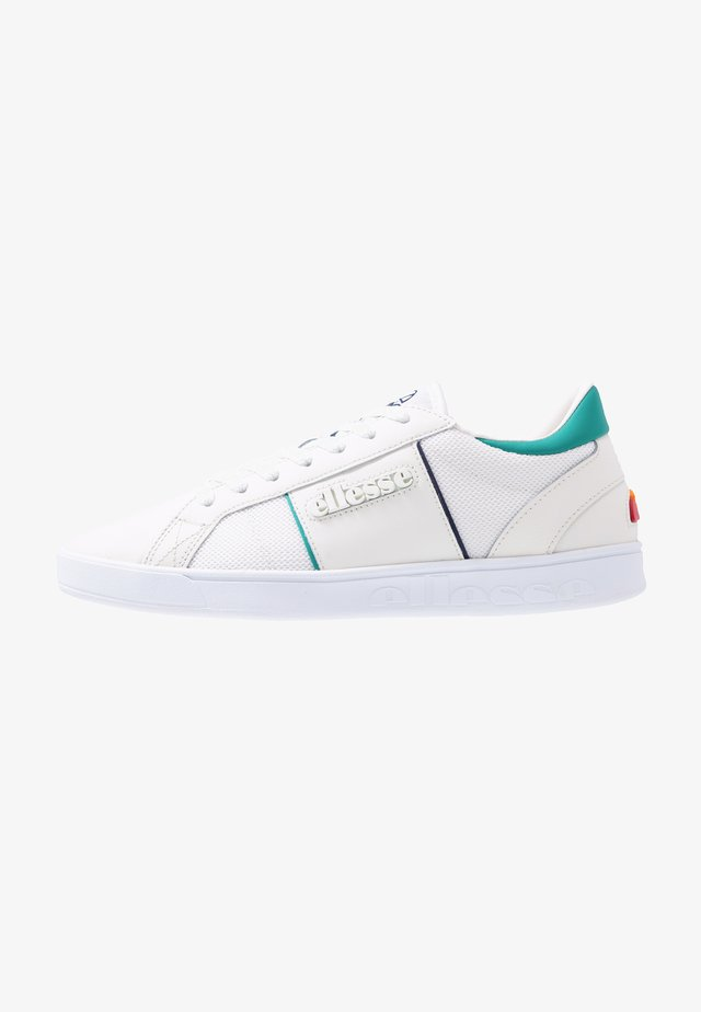 Sneakersy niskie - offwhite/green