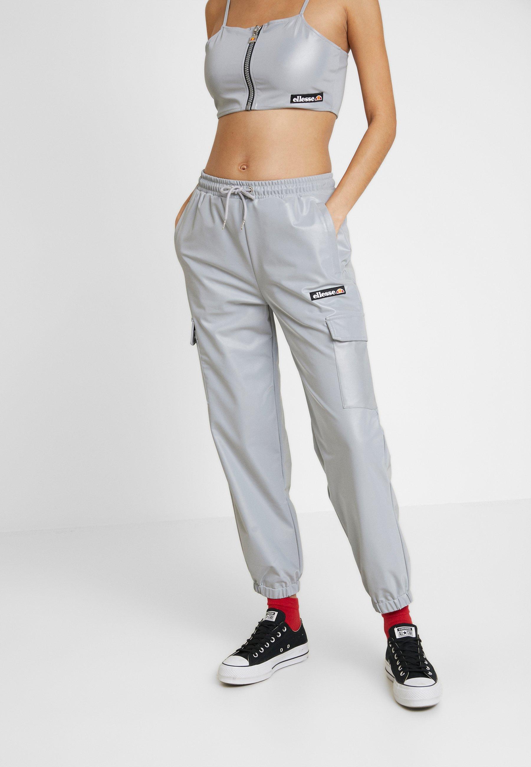 Ellesse SCENA REFLECTIVE - Spodnie treningowe - silver