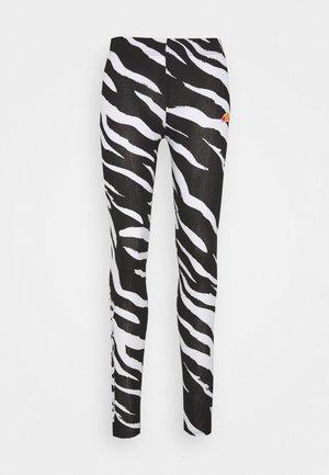 LOSO - Leggings - black/white