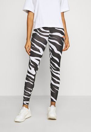 LOSO - Leggings - Trousers - black/white