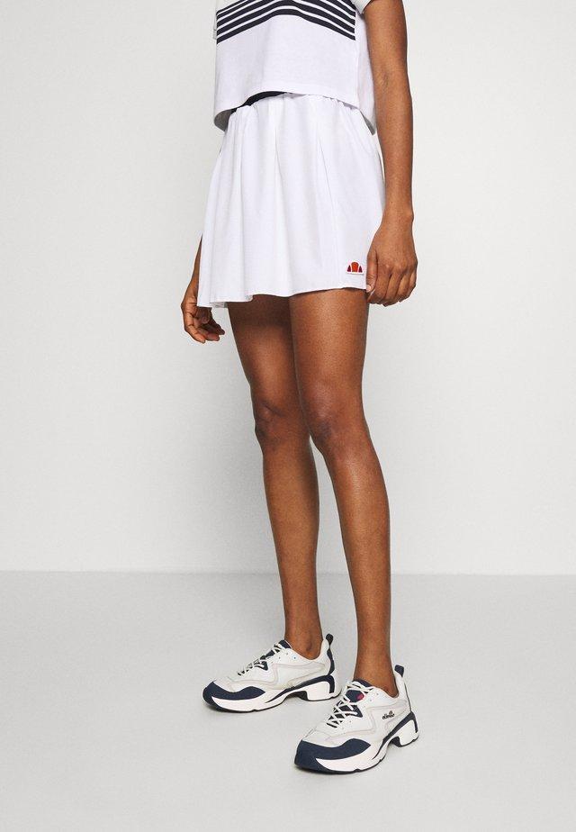ANNUZIATA - Áčková sukně - white